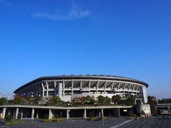 ラグビーワールドカップの受付(横浜国際競技場)